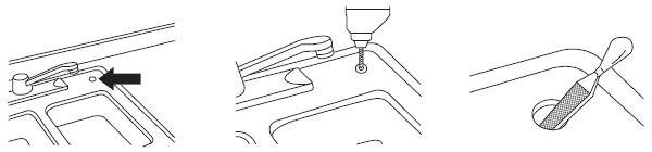 Perforación para la llave de ganso