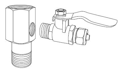 Válvula de alimentación del agua